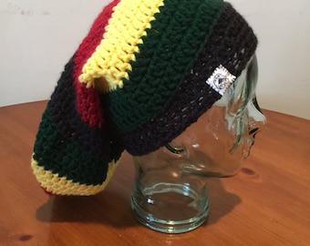 Crochet dread beanie.