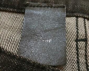 "RARE Vintage Dior Black Jeans Denim Skinny Christian Dior CD Size 33"""
