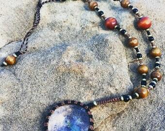 Kaleidoscope Monocle Necklace