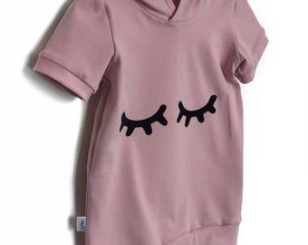 Sleepy Eyes Pink hooded dress