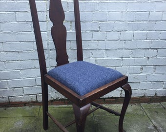 Gothic blue dining chair