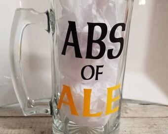ABS OF ALE Glass Mug