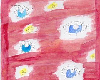 eye see you art print by bethany lou