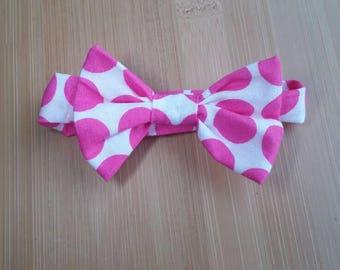 Pink Polka Dot Cat Bow Tie