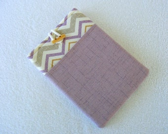 "IPad Mini Case, IPad Mini Cover, Kindle Fire Cover, Nook Cover, Kindle Fire 7 Cover, Kindle Fire HD Case, Purple Chevron 8 3/4""x 5 3/4"""