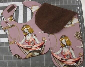 Bib & Burp Cloth in Zombie Pin-up Girls