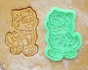 Everest cookie cutter. Paw Patrol cookies. Paw Patrol birthday decorations