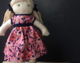Custom Doll Dressed in Rifle Paper Co. Dress