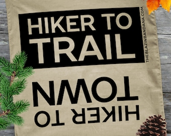 Hiker Bandana - Gold - For Thru Hiking AT (Appalachian Trail), PCT, CDT Lightweight Outdoor Hiker to Town Hiker to Trail Bandanna