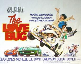 Vintage Love Bug Herbie Movie Poster A3/A2/A1 Print