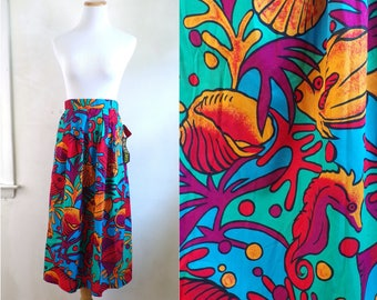 "cotton fish skirt size small | 27"" waist 
