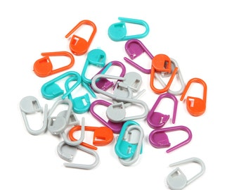 Locking Stitch Markers/Plastic Knitting Crochet  Markers Set 25 pcs