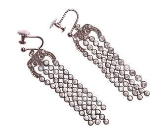 Vintage Marcasite Chandalier Earrings