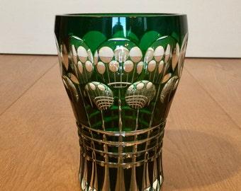 Vase en cristal taillé du Val Saint-Lambert
