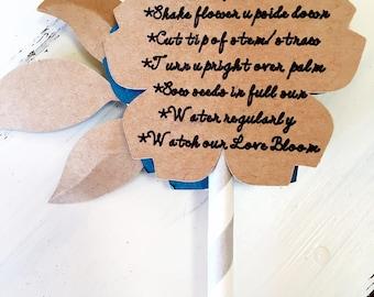 Boho wedding favors - Personalized Wildflower Seed Favor - Rustic Wedding Favors - Flower Seed Favors