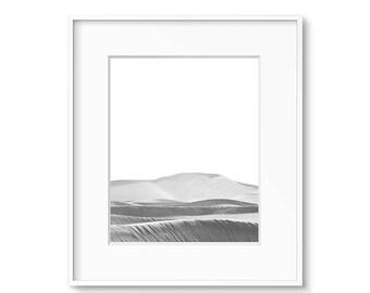 Desert Art, Black and White Print, Modern Print, Southwest Art, Printable Art, Contemporary Art, Desert Decor, Sand Dunes, Posters, Art
