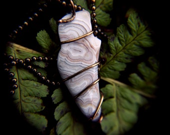 Wire Wrapped Crazy Lace Agate