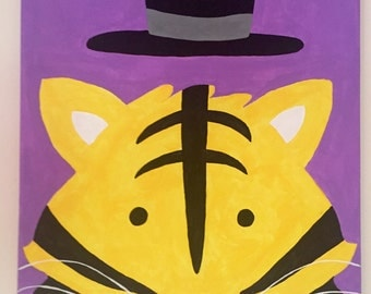 Tiger and Top Hat Painting