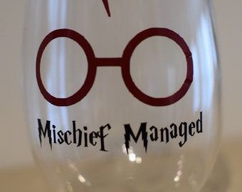 Harry Potter Mischief Managed *Decal* PERFECT for a magical beverage container!