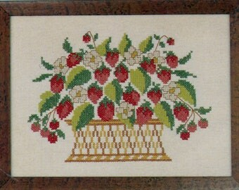 Strawberry Basket Stamped Sampler Kit by Country Stitches