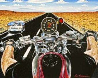 Crankin - Motorcycle Metal Sign
