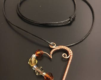 Wire Heart necklace Hand made