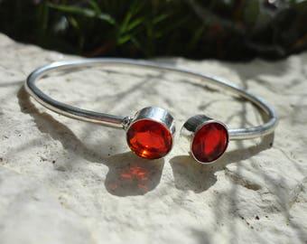 Garnet bracelet, 925 Silver