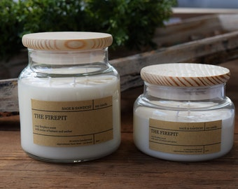 THE FIREPIT - Handpoured Soy Candle- 16 oz & 9 oz