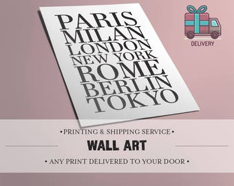 NEW! Printed & Shipped. Get any of my artworks printed and shipped worldwide! Custom made for you.