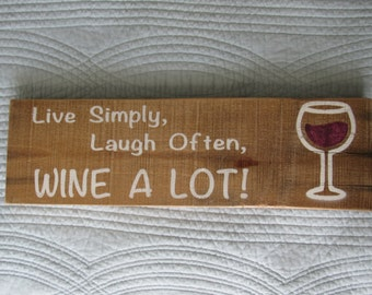 """Rustic Pallet Wood """"Wine a Lot"""" Sign"""