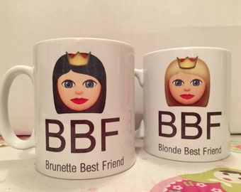 BBF Blonde Brunette Best Friend Mug (Pair)
