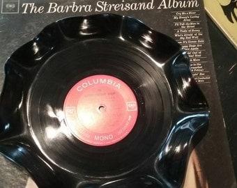 Vinyl Record bowl, Streisand