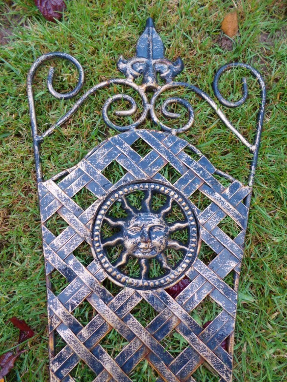 Metal garden decor sun outdoor
