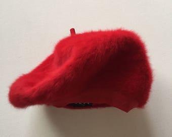 Vintage Kangol beret 1990s red furgora beret
