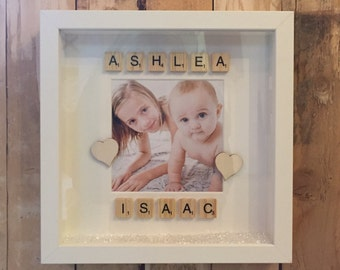 Personalised Scrabble Name Box Frame