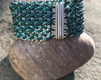 Herringbone Cuff Bracelet