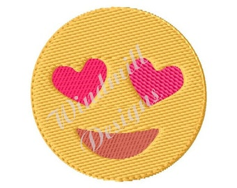 Heart Eyes Emoji - Machine Embroidery Design