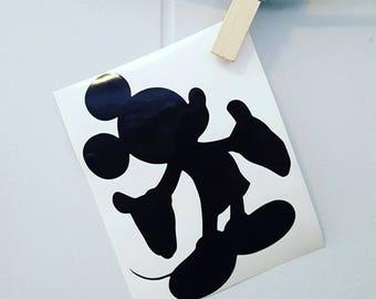Mickey Mouse Car Decal Mickey Mouse Decal Mickey Mouse Sticker Disney Car Decal Disney Decal Disney Sticker Walt Disney Decal Walt Disney
