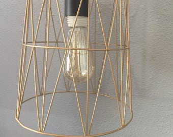 Geometric cage hanging light