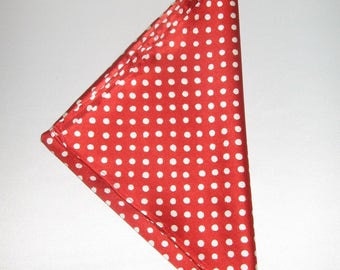 Elegant silky red handkerchief