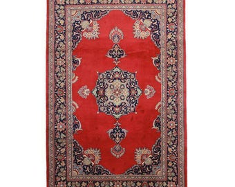 RugsinDallas Hand Knotted Wool Chinese Rug   6u0027 X 9u0027 Red, Pink,