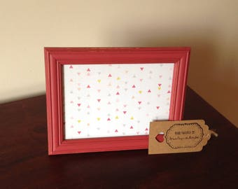 "Shabby Chic Red Picture Frame 7""x5"""