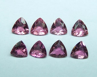 Masterpiece Collection : Natural Bright Pink Tourmaline Trillion / 5 x 5 MM Calibrated Loose Gemstones / 4 Pieces Per Lot Parcel / AAA Gems