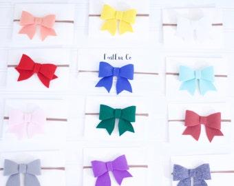 Felt Bow Headband - Baby Headband - Toddler Headband - Bow - Bow Headband - Pick 3 of your choice