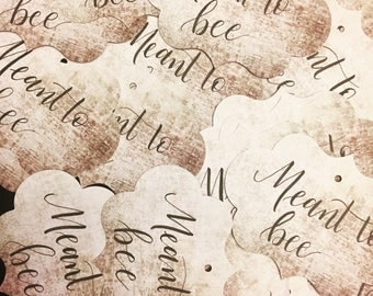 Gift tags for bridal/baby shower in calligraphy