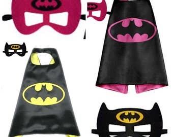 Superhero Cape and Mask Set Child Boys Girls Costume Birthday Party Dress Up *ON SALE*