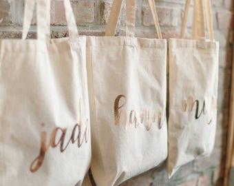 5 Bridesmaid Bags, Bridesmaid Gifts, Bridesmaid Bags, Bridesmaid Totes, Tote Bags, Gift Bags, Custom Totes, Custom Bags