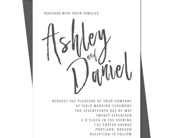 Wedding Invitation/Modern - Printable Template