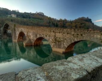 Il ponte del diavolo -Part 1- - Bridge photo - medieval photo - Tuscany photo - art photography - photo art - Color photo - professional