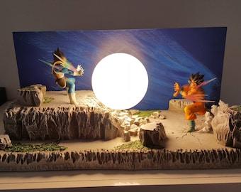 lamp figure goku vs vegeta